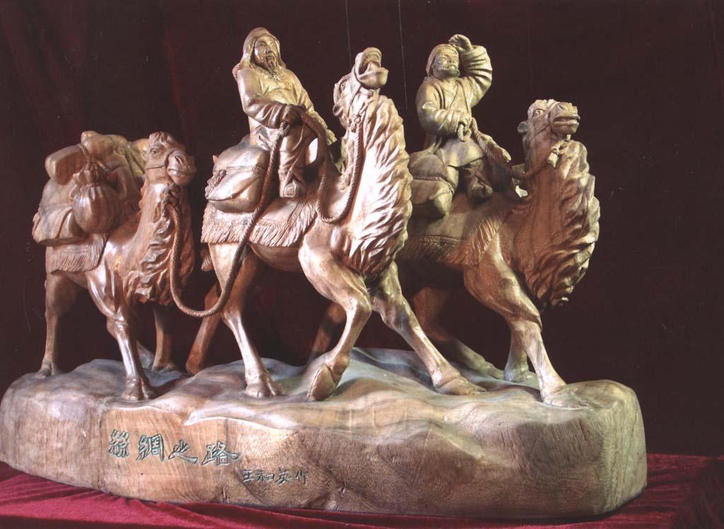 木雕丝绸之路图片